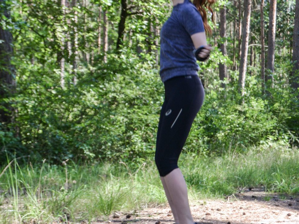 Sport, Training, Jogging in the forest - im Wald HIIT High intensity interval training