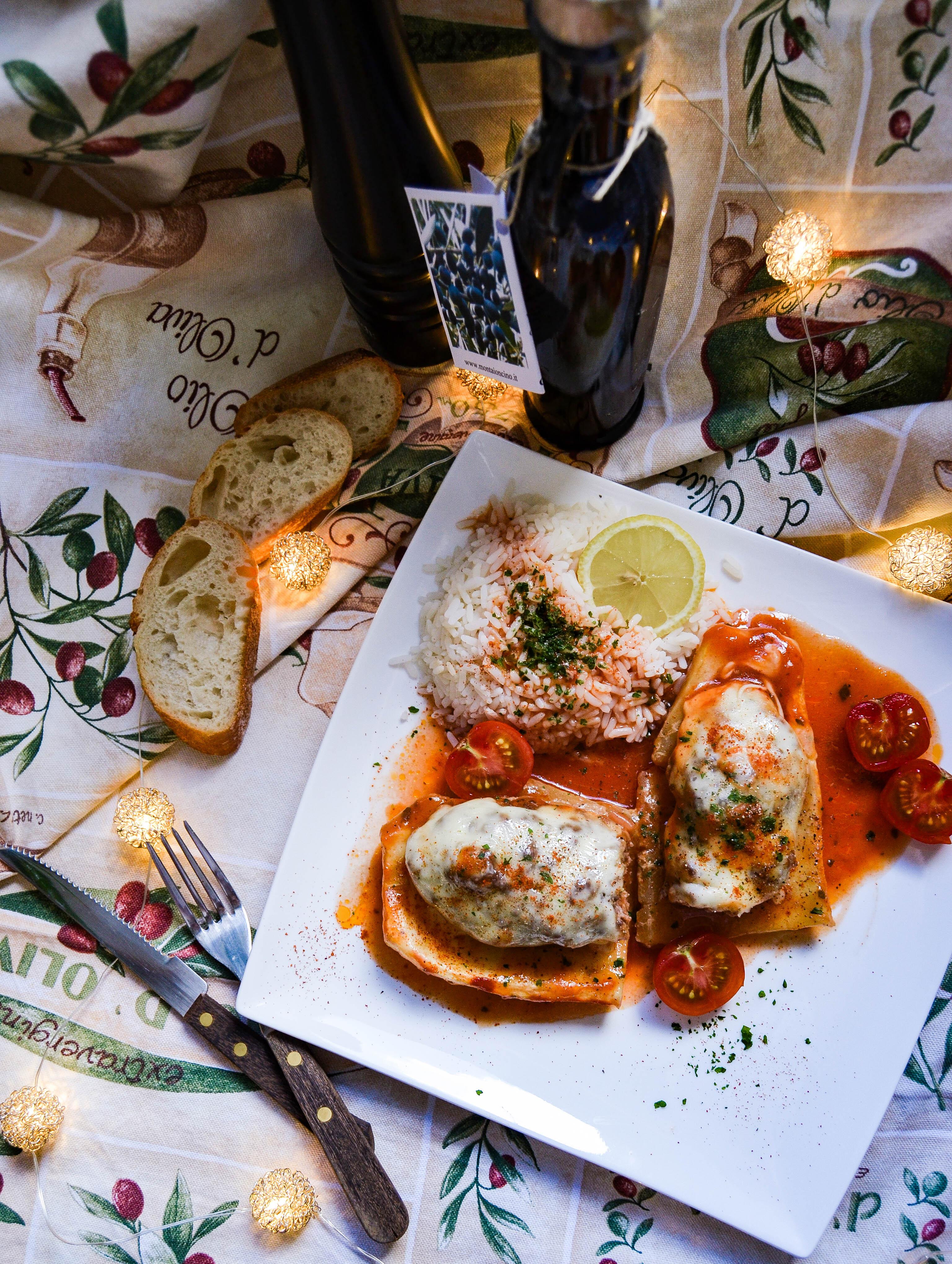 filled stuffed zucchini - gefüllte zucchini- italienisch- italian