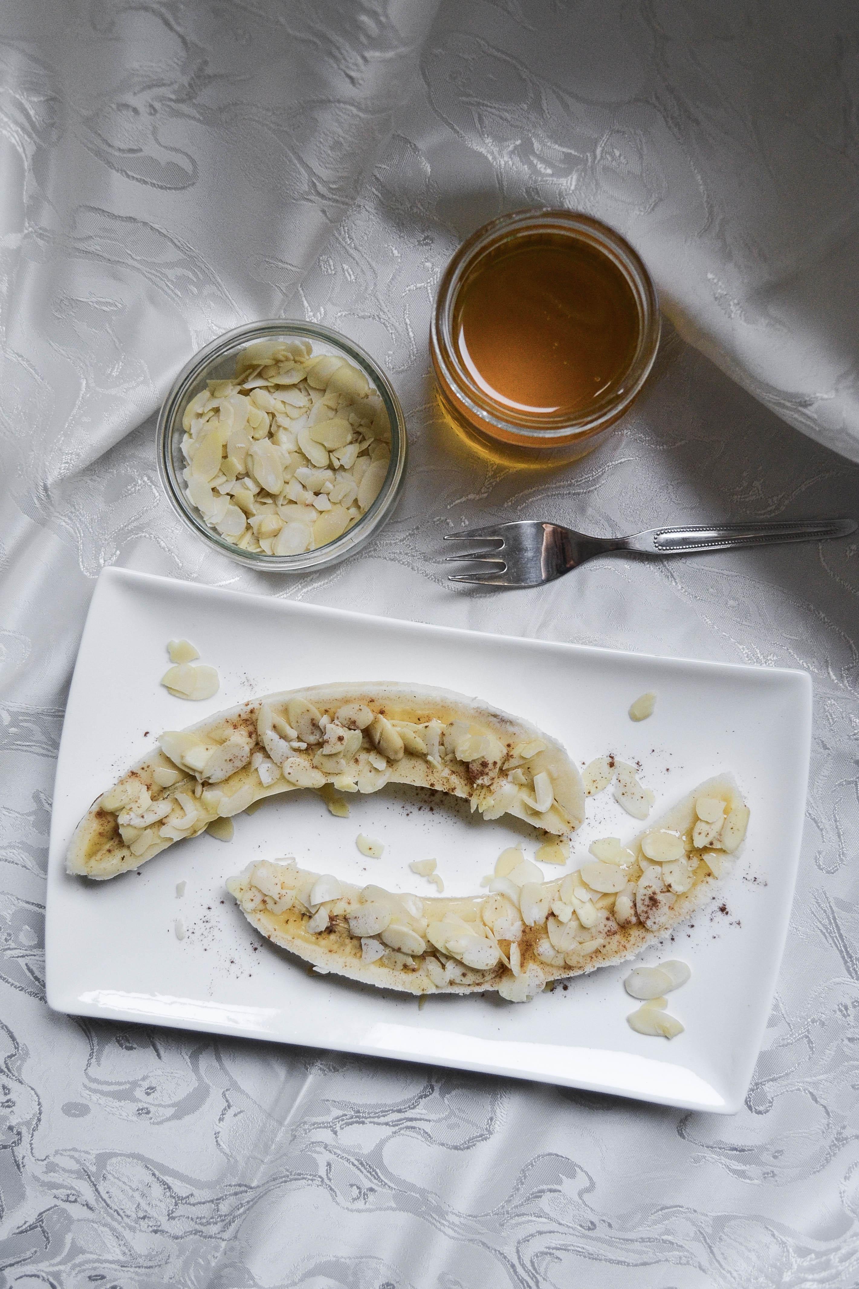 healthy snacks banana honey peanut butter ice cream