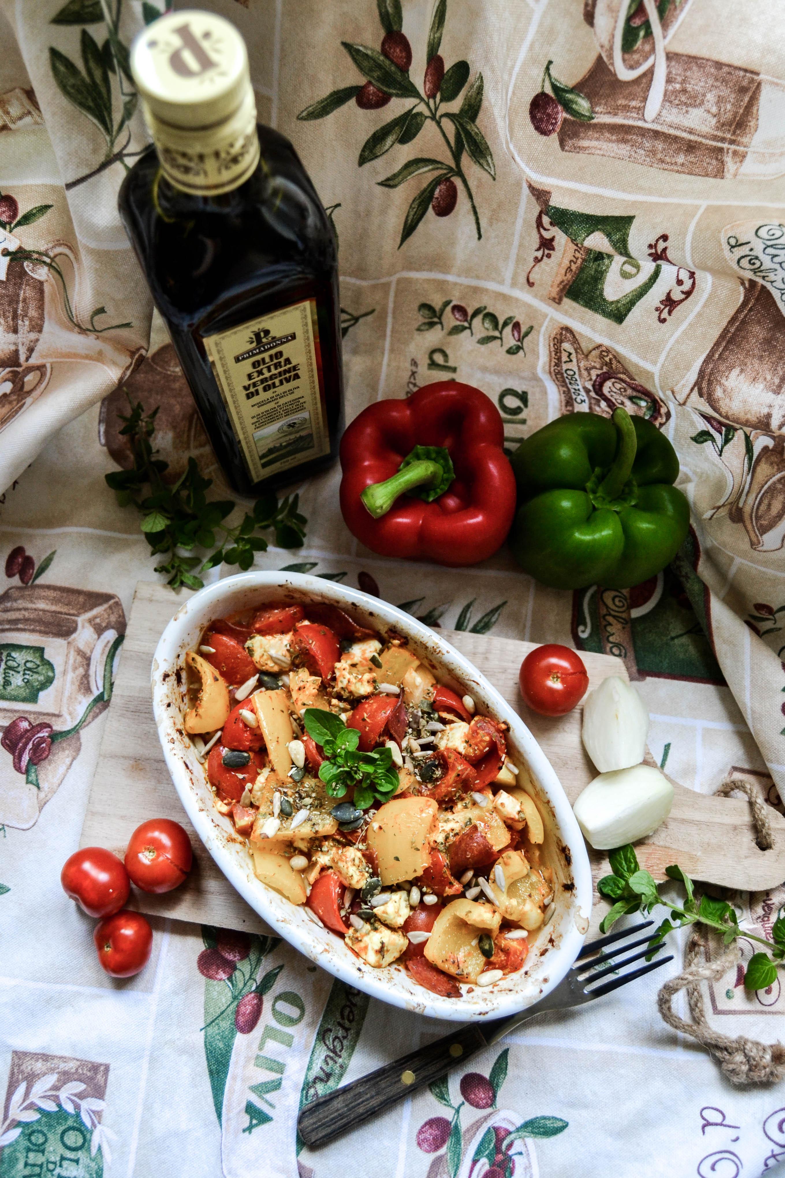 low carb feta vegetable gratin