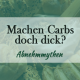 Machen Nudeln dick? Was hält Low Carb?