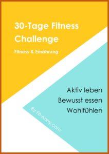 30 Tage Fitness Challenge zum Abnehmen, gesund leben und fit werden