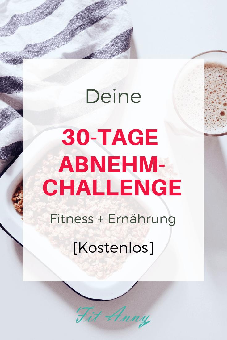 Kostenlose 30 Tage Fitness Challenge, Abnehm Challenge für Fitness und Ernährung