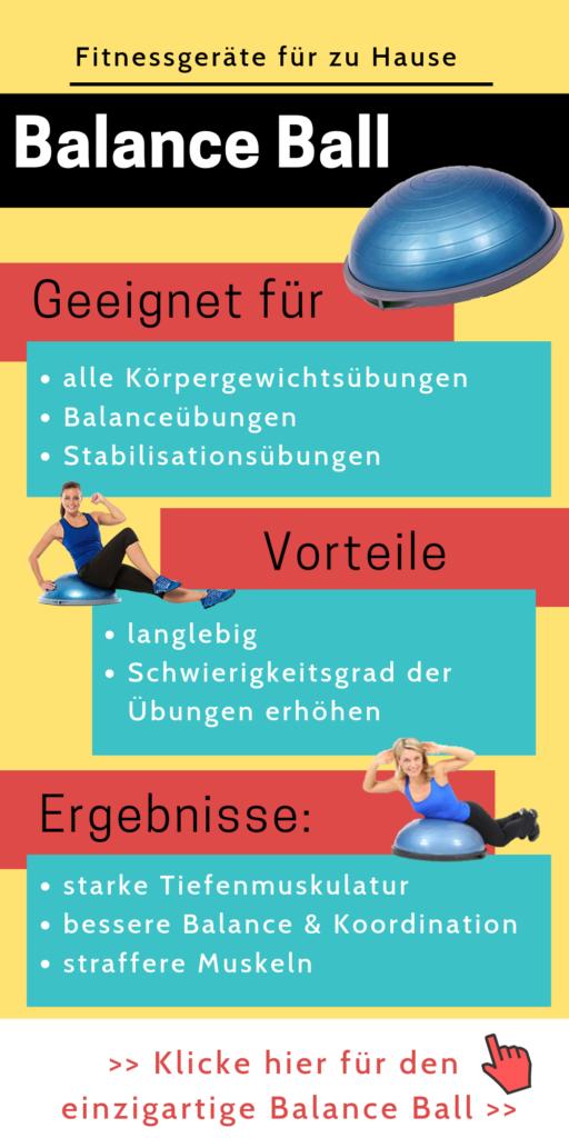 Fitnessgeräte für zu Hause: Bosu Ball- Home Gym einrichten - effektiver trainieren