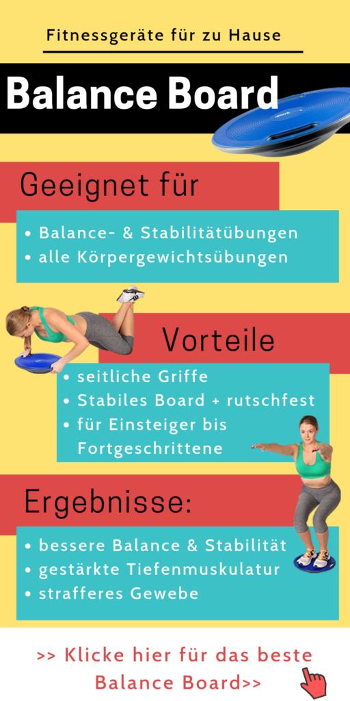 Fitnessgeräte für zu Hause: Balance Board - Home Gym einrichten - effektiver trainieren