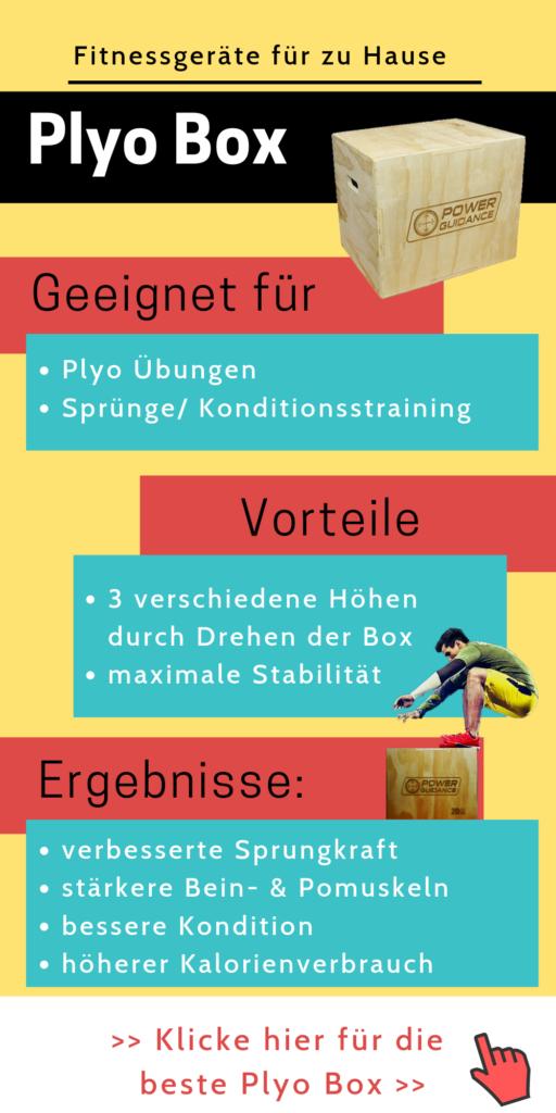 Fitnessgeräte für zu Hause: Plyo Box - Home Gym einrichten - effektiver trainieren