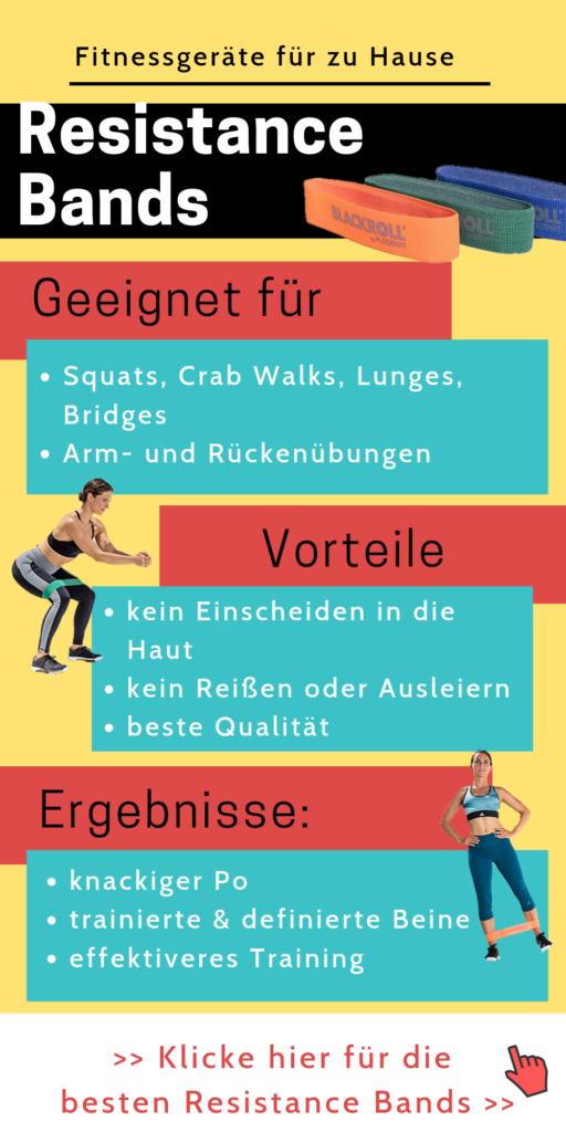 Fitnessgeräte für zu Hause: Resistance Bands - Home Gym einrichten - effektiver trainieren